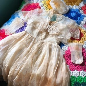 VTG 20s Wedding Dress With Accessories